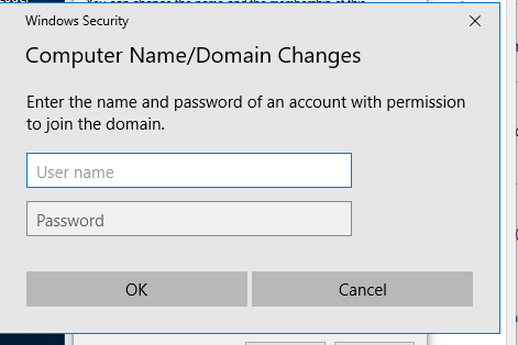 credetial windows for admin