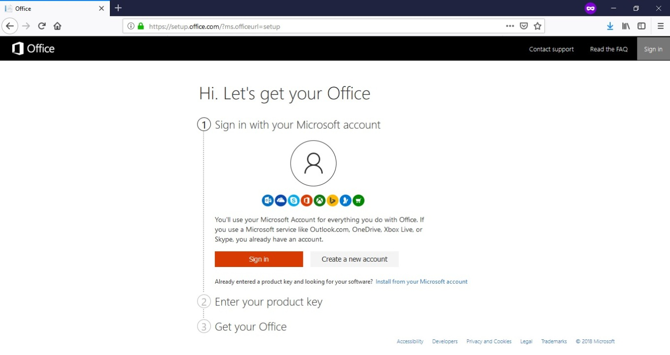 office login page