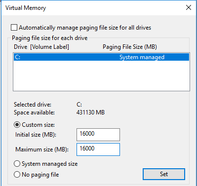 vram allocation